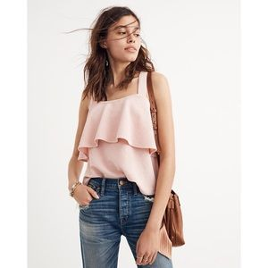 MADEWELL texture and thread tiered tank top